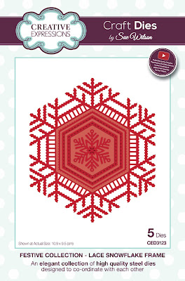 Festive Collection Lace Snowflake Frame Dies - CED3123