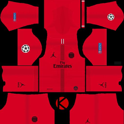 Jordan X Paris Saint-Germain (PSG) 2018/19 Kit - Dream