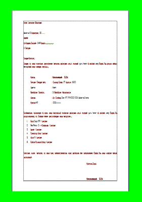 Download Surat Lamaran Guru Honorer Terlengkap
