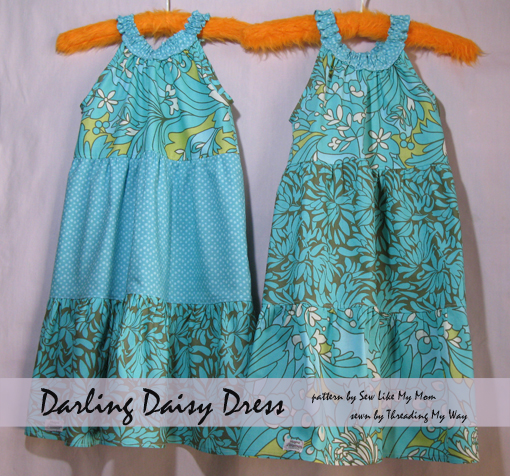 Darling Daisy Dress ~ pattern review Threading My Way