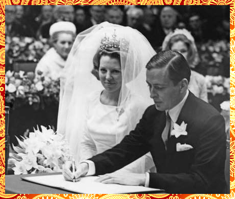 Beatrix of the Netherlands and Prince Claus, 1966 (Royal Adorable Wedding Dress)