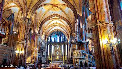 Budapest Chiesa di Mattia interno