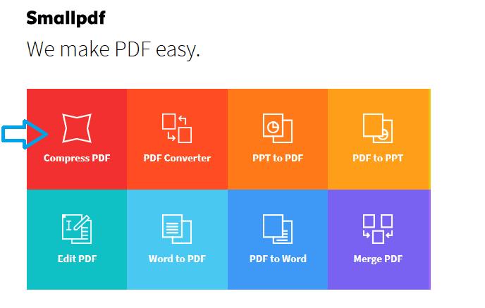 cara kurangi ukuran file pdf online