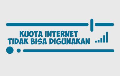 Kuota Internet Tidak Bisa di Pakai Untuk Internetan