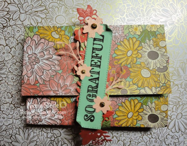 note card purse | Stampin' Up! Ornate Garden suite | Made by Nicole Steele The Joyful Stamper | free Ornate Garden Mega Tutorial Bundle with $50 order in my store
