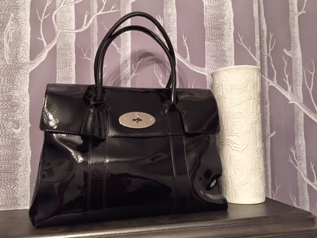 Mulberry Bayswater for MacBook in Black Drummed Patent Leather 41cc9f68ae026
