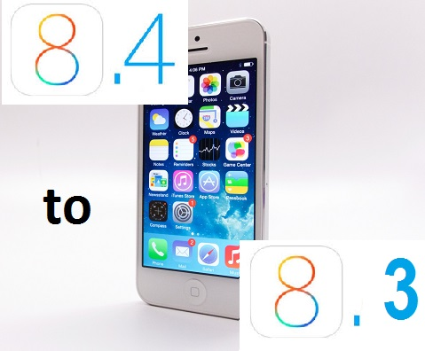 How to Downgrade iOS 8.4 to iOS 8.3?