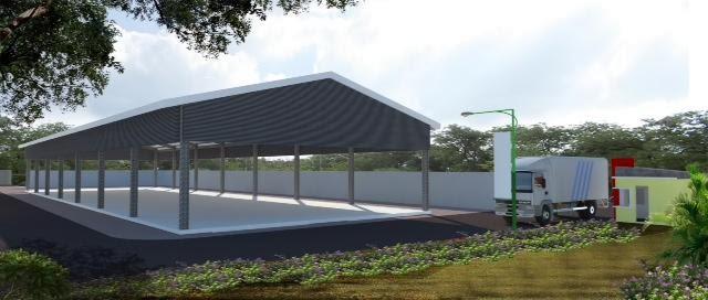 Jasa Desain Gudang Pabrik Polos Tiang Tanpa Tembok 3d Eksterior Interior Design