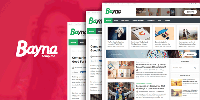 Bayna Blogger Template