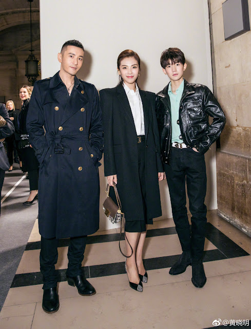 Huang Xiaoming, Liu Tao, Wang Yuan Paris Fashion Wek 2018