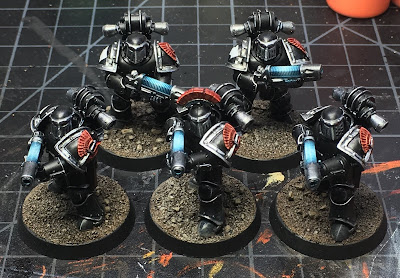 1st Legion Dark Angels Terran Tactical Support  Squad WIP