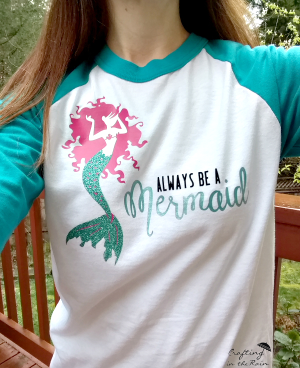 Mermaid shirt crafting in the rain for How to decorate t shirts