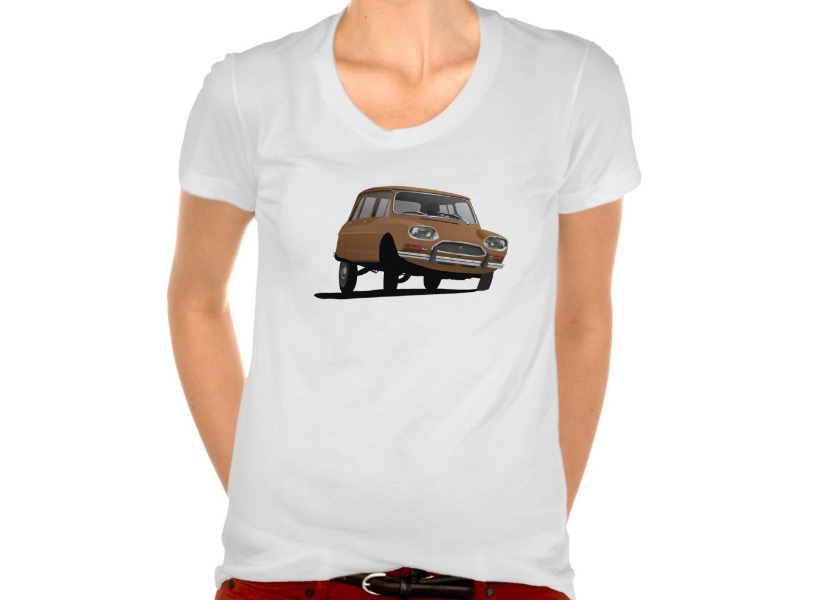 Brown Citroën Ami 8 break t-shirt