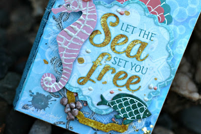 BoBunny Travel Journal featuring Down By The Sea designed by Rhonda Van Ginkel