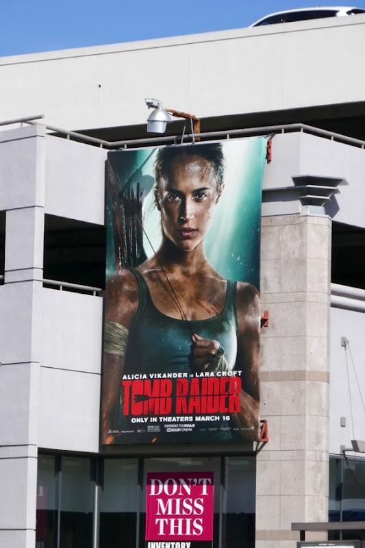 Tomb Raider film reboot billboard