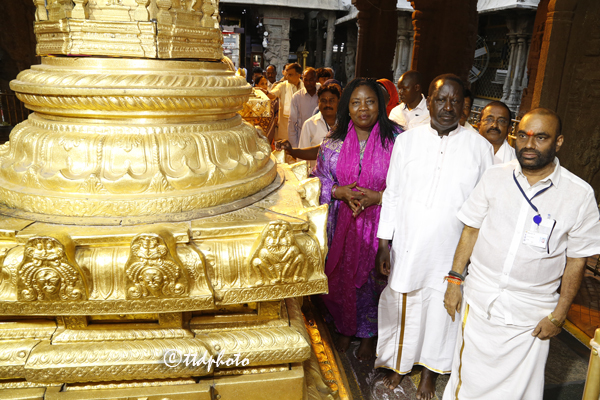 కెన్యా మాజీ ప్రధాన మంత్రివర్యులు గౌ|| శ్రీ రైలా ఓడింగ్