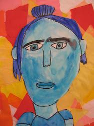 portraits cool portrait warm backgrounds self 3rd grade project colour nelson instructions did