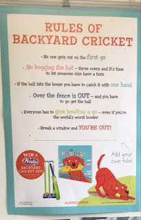 The 12th Dog by Charlotte Calder Rules of Backyard Cricket poster