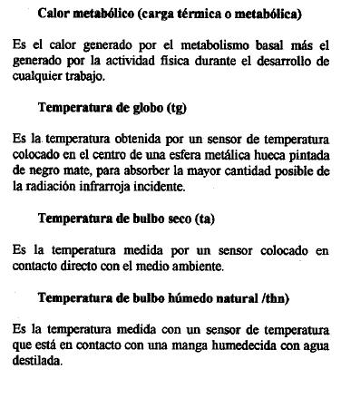 Estrés térmico. 3