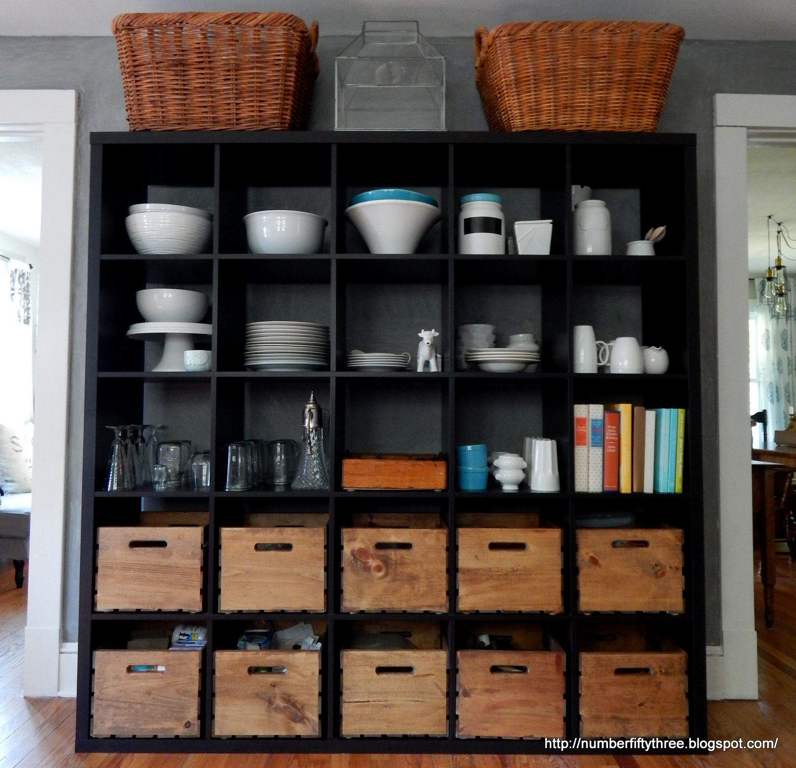 number fifty-three: ikea kallax as kitchen storage (another glimpse