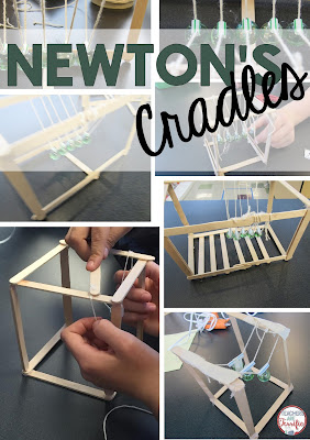 STEM Challenge: Using craft sticks and marbles can you build a Newton's Cradle? These are perfect to help kids understand Newton's 3rd Law of Motion!