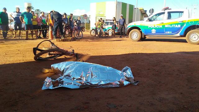 Uma criança morre e outra fica em estado grave após serem atropeladas por ônibus escolar de Rolim de Moura