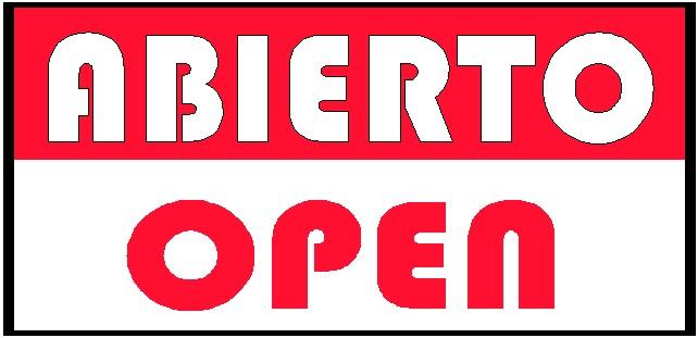 Letrero De Open: A Mi Manera: Rótulos De Abierto Para Negocios