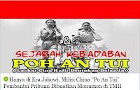 Hanya di Era Jokowi, Milisi China Po An Tui Pembantai Pribumi Dibuatkan Monumen di TMII