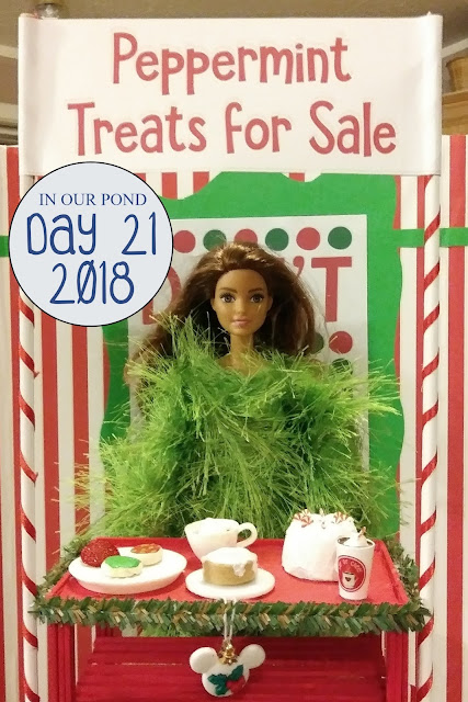 Elf on the Shelf 2018 // In Our Pond // christmas // holidays // winter // elf // peppermint treats for sale // bake sale // winter foods // christmas cookies