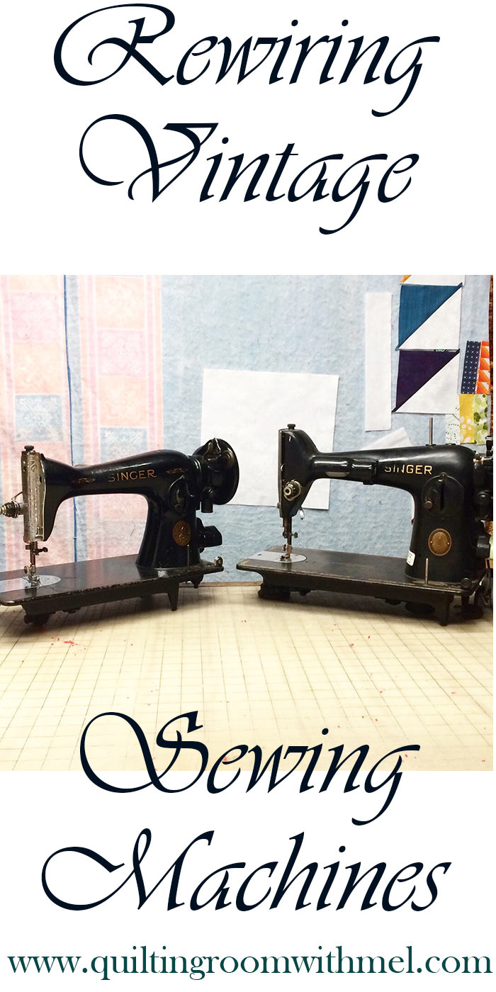 rewiring vintage sewing machines pinterest