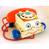 Un exemplaire du célèbre téléphone de Fisher Price de 1961
