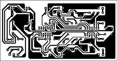 PCB layout rangkaian Active Suround untuk audio projek