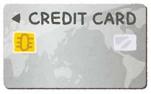 クレジットカードのイラスト(番号なし・シルバーカード・プラチナカード)
