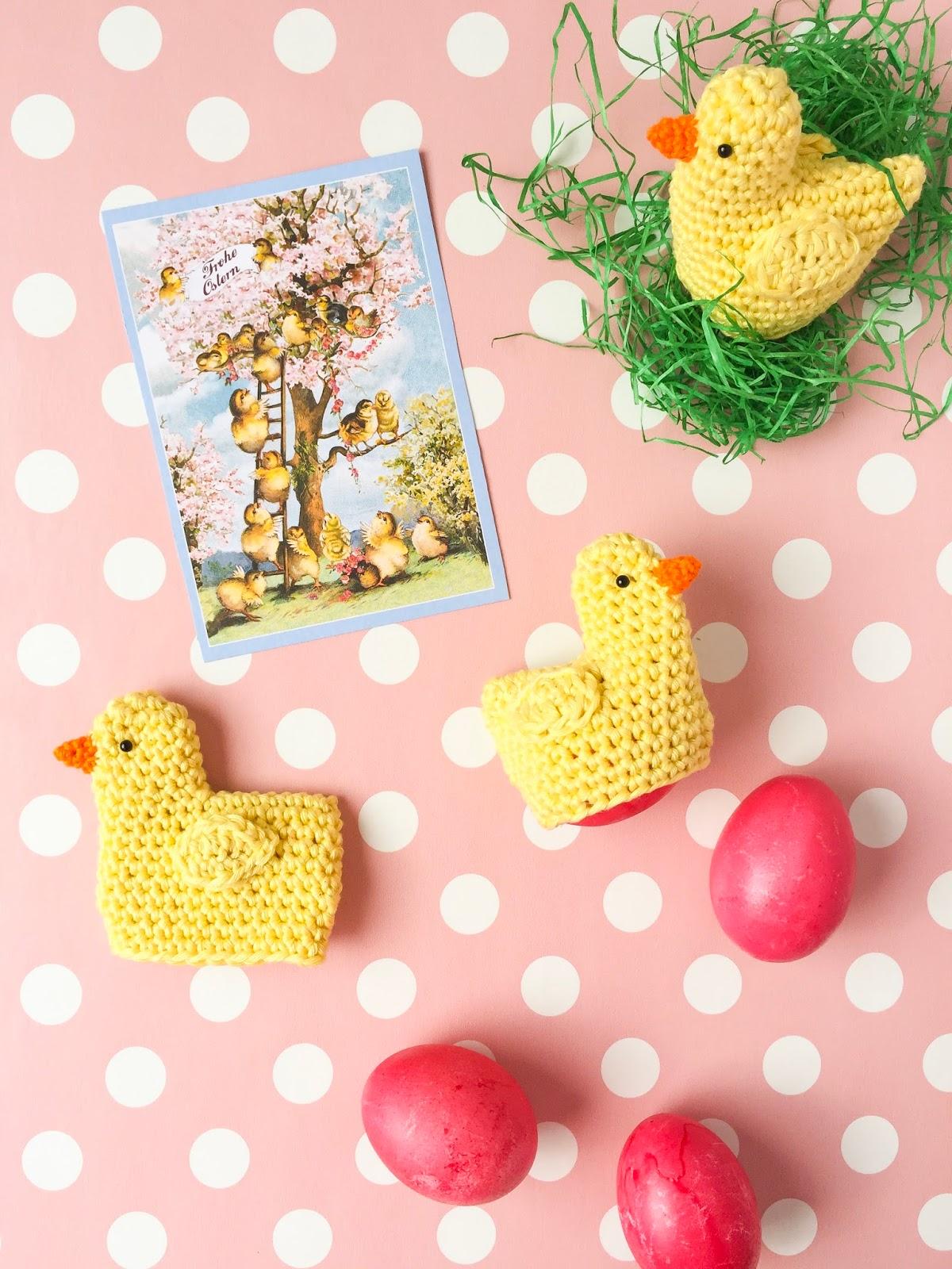Eine Anleitung Für Gehäkelte Küken Als Eierwärmer Zu Ostern
