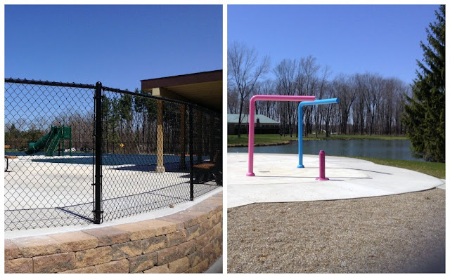 Close up of pool and splash pad at @GSNEO Camp Timberlane