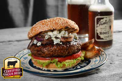 CAB Black & Blue Burger--Happy Birthday Hamburger! @KidsCowsandGrass.com