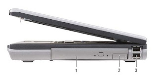 Right Side View Dell Latitude D630/D630c