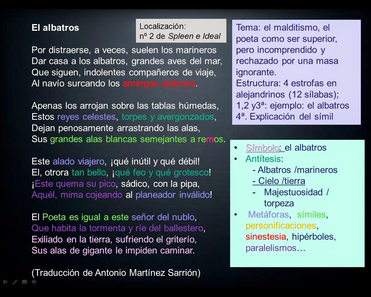 Literatura Universal El Albatros Dos Comentarios
