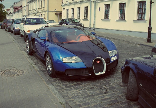 Sports cars in Moscow