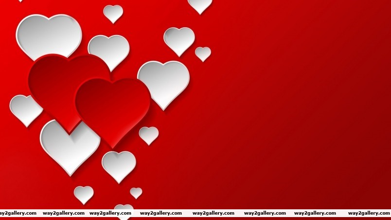 Digital hearts wallpaper
