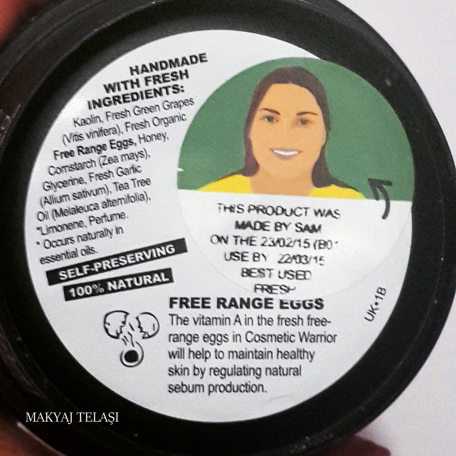 lush cosmetic warrior içerik