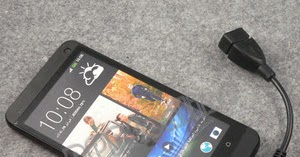 How to Connect USB to your HTC One M7 | USB OTG (on the go) Cable