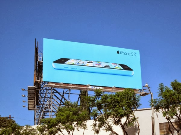 Blue iPhone 5c billboard