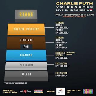 Harga Tiket Konser Charlie Puth Di Indonesia