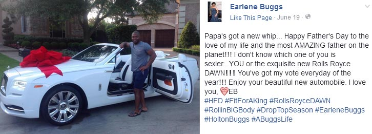 Father's Day: This woman bought her husband a brand new Rolls Royce whip