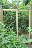 pallet wood gazebo homemade trellis