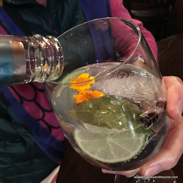 gin and tonic at The Cooperage in Lafayette, California
