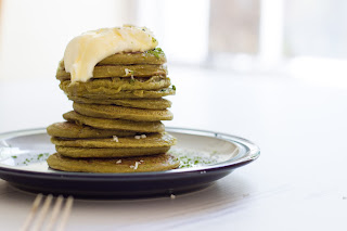 Vegan Matcha Coconut Pancakes with Eat Clean Tea, www.imogenmolly.co.uk