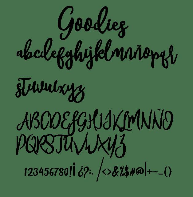goodies, font, fuente, descargar, tipografia