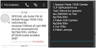 Beli Paketan Internet Telkomsel 15 GB Rp 75000 Simpati Combo Selama 30 Hari